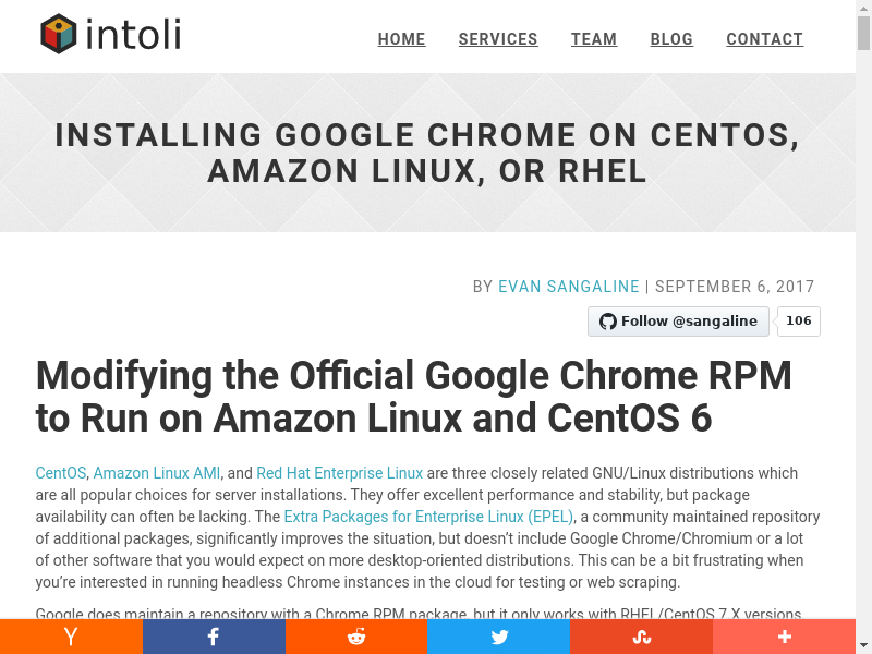 Installing Google Chrome On CentOS, Amazon Linux, or RHEL