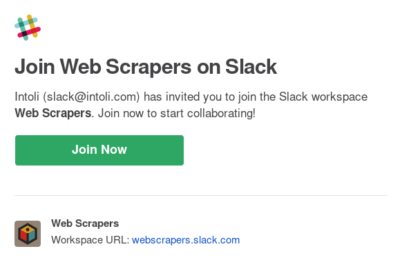 A Slack Community for Developers to Discuss Web Scraping